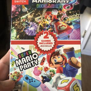 Mario Kart & Super Mario Party combo pack 100$$$ brand new sealed for Sale in Chula Vista, CA