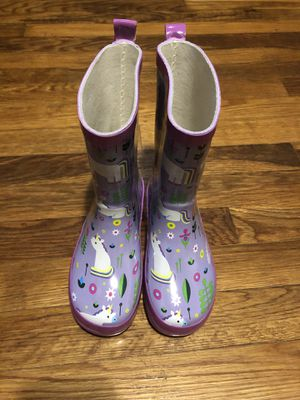 New unicorn purple/pink rain boots toddler girls size 9/10 for Sale in Chesapeake, VA