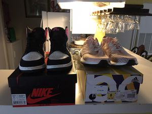 Jordan 1 sz 7 and adidas pure boost sz 8 for Sale in Houston, TX