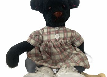 "Linda Spiegel Barely There 14"" Plush Black Teddy Bear Stuffed for Sale in Beaverton,  OR"
