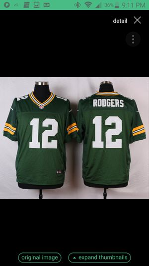 PACKERS ROGERS JERSEY SIZE MED N XL N 2XL N 4XL 100% STITCHED for Sale in Colton, CA