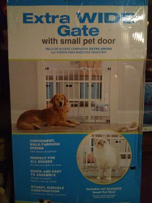 Extra wide pet gate with pet door for Sale in Indianapolis, IN