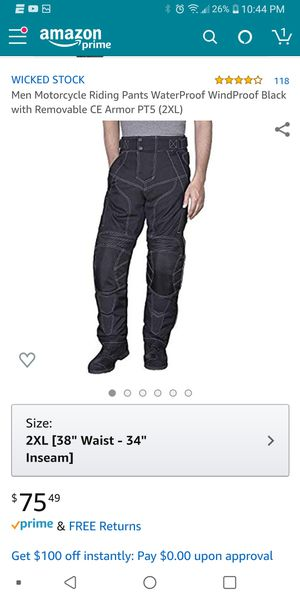 Motorcycle riding pants. for Sale in Lake Worth, FL