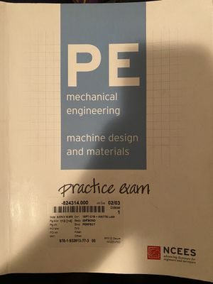 PE Mechanical NCEES machine design practice exam. for Sale in Glendale, CA
