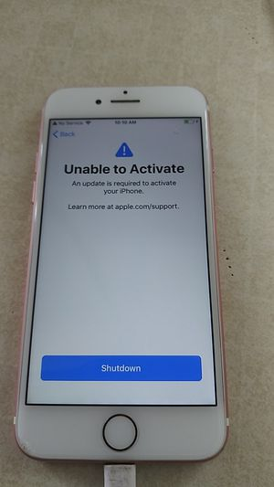 rose gold iphone 7 UNABLE TO ACTIVATE for Sale in Salt Lake City, UT