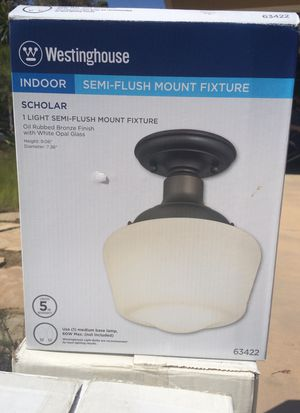 Westinghouse indoor semi-flush light fixture for Sale in Carlsbad, CA