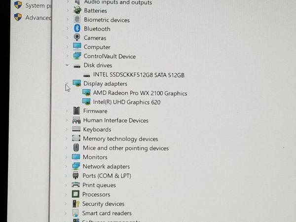 Dell Precision 3540, i7 8th gen. 512GB SSD, 16GB DDR4