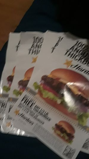 Hardees coupons qty 9 for Sale in Johnson City, TN