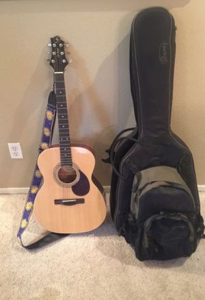 Greg Bennett Acoustic Guitar with Ibanez Case and removable backpack. for Sale in Glendale, AZ