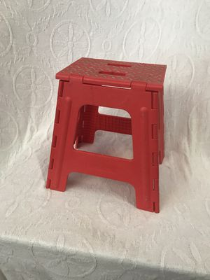 Small Red Fold-up Stool for Sale in Raleigh, NC