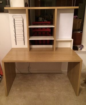 Ikea study or office desk furniture with hutch and built in organizer for Sale in Ashburn, VA
