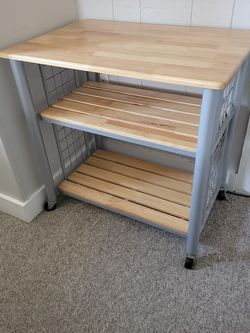 Wood And Metal Bakers Cart/Shelves With Wheels for Sale in Nashville,  TN