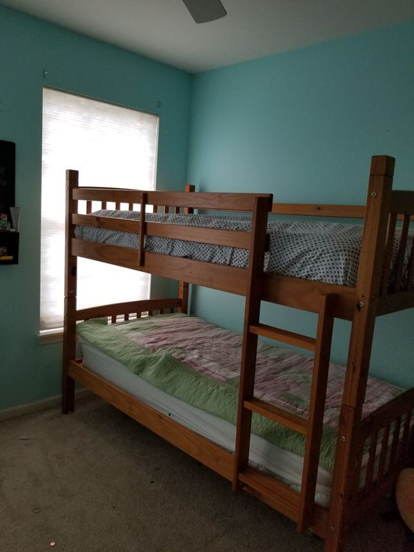 Bunk bed frame and mattresses if wanted