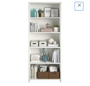 Mainstays Heritage 5 Shelf Bookcase, White for Sale in River Rouge, MI