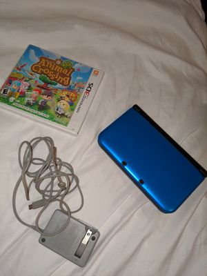 Nintendo 3ds xl - blue with Animal Crossing New Leaf for Sale in Plano, TX
