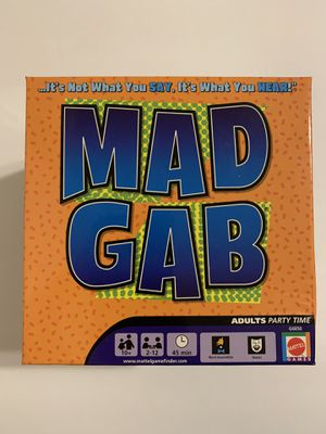 Mad Gab Adult Party Time Game 2 to 12 Players - Mattel 1200 Puzzles in 300 Cards for Sale in Katy, TX
