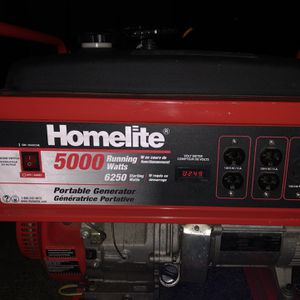 Homelite 5000 Gas Powered Portable Generator for Sale in NJ, US