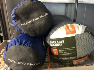 Camping Pillows and Camping Packable Blanket for Sale in Fall River, MA