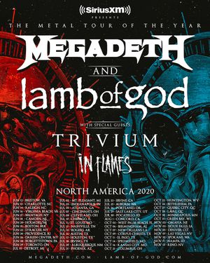 GA Pit tickets for Megadeth w/ Trivium, In Flames tour for July 21,2020 in Phx for Sale in Mesa, AZ