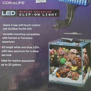LED marine aquarium clip on light for Sale in Smithtown, NY