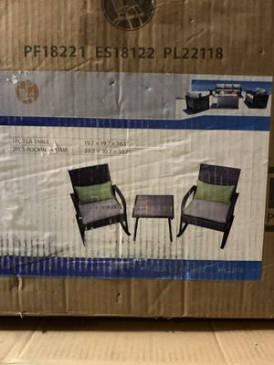 3 piece rocking patio furniture for Sale in West Valley City, UT