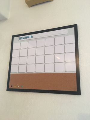 Magnetic whiteboard calendar for Sale in Fremont, CA