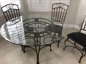 Glass and iron table for Sale in Hialeah, FL