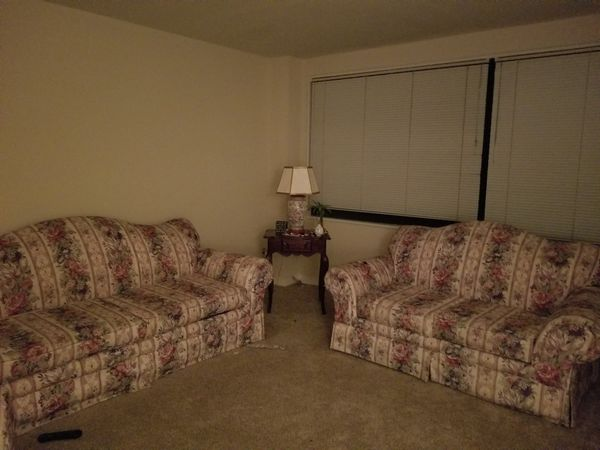 Sofa love seat chair and 2 end tables