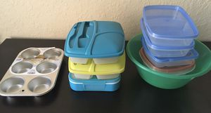 Multiple Kitchen Boxes and Lunch Box for Sale in Lakeland, FL