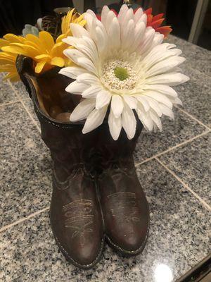 Cowboy boots vase for Sale in Sumner, WA