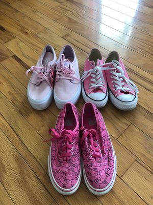 PINK SNEAKERS! Converse, Vans & DC Shoes for Sale in Nashville, TN