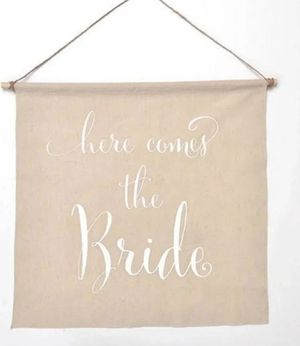 New Wedding banner Bride $6 firm- shipping only for Sale in Hollywood, FL