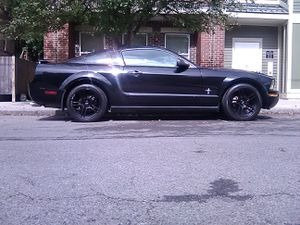 2005 v6 mustang black exterior gray interior 141844 thousand miles aftermarket exhaust 18 inch black coated rims and good condition518-229-9044 for Sale in Albany, NY