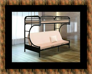 Twin futon bunk bed frame for Sale in New Carrollton, MD