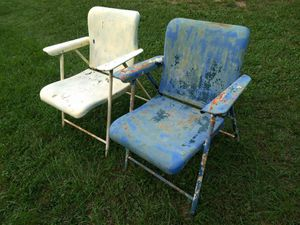 Vintage metal lawn chairs $75 each for Sale in Bunker Hill, WV