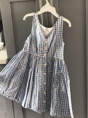 Ralph Lauren blue plaid button down dress girl size 6x for Sale in North Palm Beach, FL