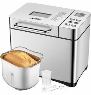 Aicok 2.2LB Automatic Bread Maker, Fully Stainless Steel Bread Machine New for Sale in Indianapolis, IN