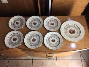 "7 pc Vintage Adam Antiques Steubenville China 22 Karat Gold Plates 8.5"" for Sale in Miami, FL"