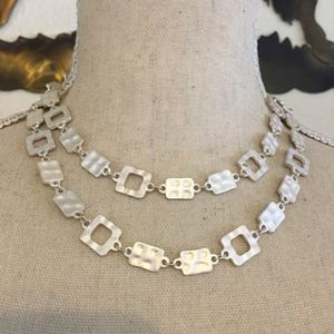 Pearlescent painted metal disc long necklace for Sale in Henderson, NV