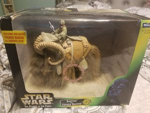 New Vintage 1998 Kenner Star Wars The Power of the Force BANTHA & TUSKEN RAIDER Action Figure toy for Sale in Plainfield, IL