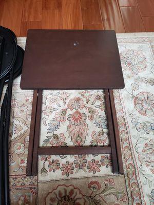 Folding Table TV Tray Breakfast CoffeeTable Pop Up Easy Storage for Sale in Walnut, CA