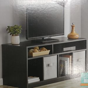 """Mainstays 4 Cube TV Console for TVs Up to 59"""", True Black Oak for Sale in Miami, FL"""