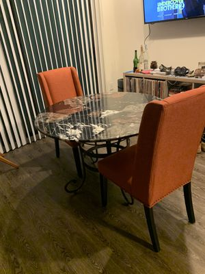 Marble table with dining room chairs for Sale in Decatur, GA