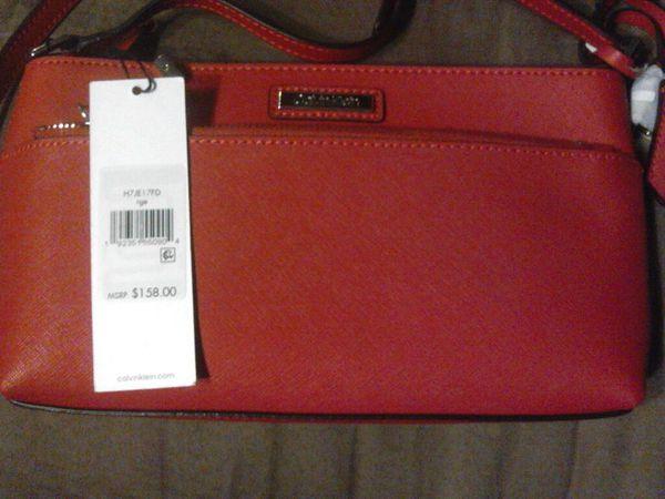 Calvin Klein Red Cross body purse