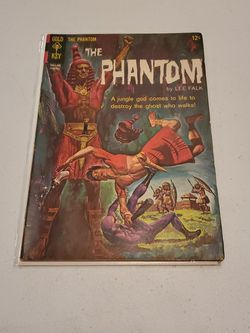 The Phantom #10 Gold Key Comics 1965 Lee Falk, Rare Silver Age Action Adventure Post Apocalyptic Horror Comic Book for Sale in Fresno,  CA