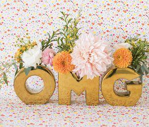 New OMG letter vases for Sale in San Francisco, CA