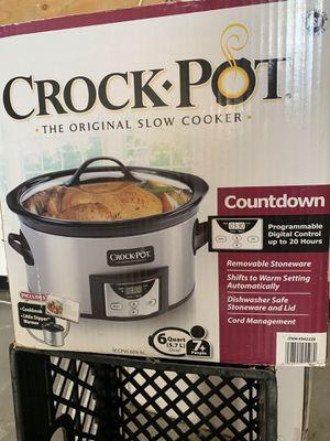 Crockpot crock-pot 6 quart slow cooker programmable for Sale in Modesto, CA