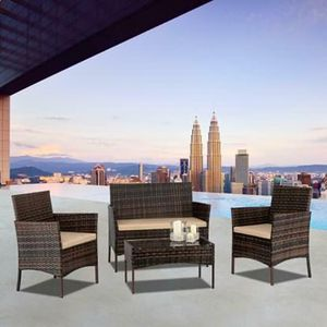 SHIPPING ONLY 4 Piece Patio Furniture Set w/Chairs and Table Outdoor Areas for Sale in Las Vegas, NV