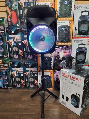 """Bocina Nueva En Caja Bluetooth Speaker Karaoke 12"""" With Stand LED Lights / USB / MICRO SD CARD / FM RADIO 📻 . 📦 Rechargeable 🔋 +++ for Sale in Los Angeles, CA"""