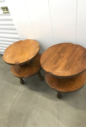 Real vintage wood lamp tables for Sale in National City, CA
